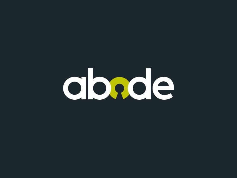 Abode abode living logo brand keyhole estate agent green dark house property letting