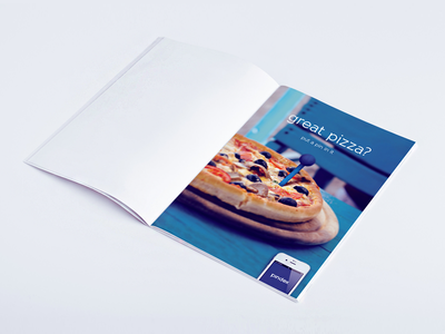 Pindex Marketing Concept social bookmark pin advert advertising print press pizza app map blue