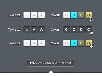 Accessibility Menu accessibility menu freebie download psd blind alt colour text size cursor