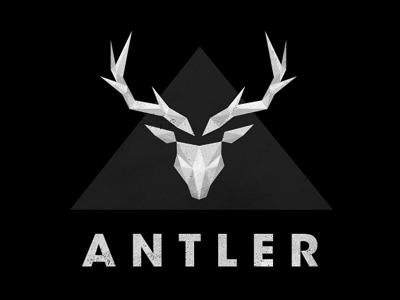 Antler Logo Variant antler stag deer horn animal zoo line vector grid guide guideline cyan black simple abstract logo brand curve circle geometric geometry shape mammal moose roe keyline reindeer