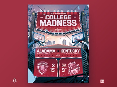 Basketball Flyer Template College Playoffs Template