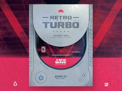 Retro Gaming Flyer Classic Game Poster Template vhs template synthwave shmups sega sci-fi retrowave retrogaming retro gaming psx poster nintendo joystick gamepad game flyer back to the 80s arcade 80s 1980s