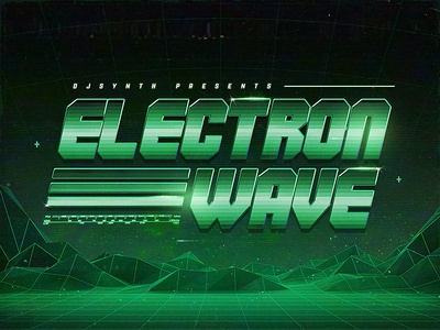 Electron Wave Retro DOS Text Effects aesthetics cyberpunk actions outrun smart objects photoshop flashback new retrowave texts electro gaming 1980s 80s effects new wave vaporwave template text styles retrowave synthwave