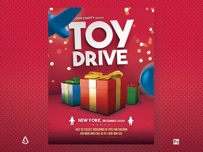 Toy Drive Flyer Holiday Donations Template nonprofit families template local hospital parents low-income collect christmas gifts books holiday charity kids donations flyer toy drive