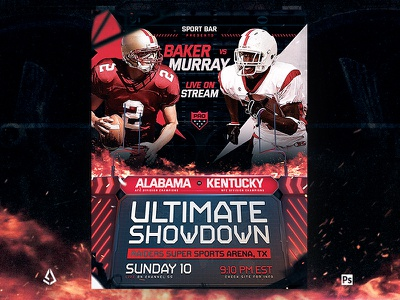 Football Match Flyer College Match Template template promotion sport flyer college football superball party american football poster combine superbowl match playoffs nfl football game flyer super bowl football