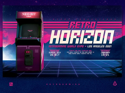 Retro Gaming Flyer Arcade Cabinet Template synthwave vintage layout template poster mock-up coin op retrowave arcade machine arcade cabinet classic gaming arcade gamers gaming video games flyer retrogaming retro gaming