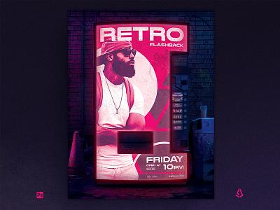 Retrowave Flyer 80s Synthwave Soda Dispenser Template soda dispenser japan indie retro music poster template pink cyberpunk flashback 1980s 80s vhs vaporwave neon flyer synthwave retrowave