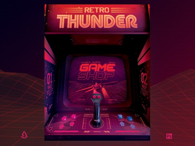 Retro Gaming 80s Poster Synthwave Arcade Flyer mame template poster japan flashback 80s arcade machine synthwave classic gaming arcade gamers gaming video games flyer retrogaming retro gaming