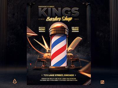 Barber Shop Flyer Vintage Poster Design coloring