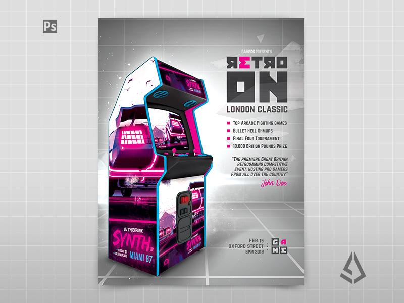 Retro Gaming Flyer V