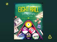 Pool Billiard Flyer - Snooker, Eight Ball Pool Poster Template