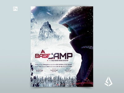BaseCamp Winter Hiking Flyer Template