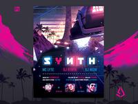 Synthwave Flyer v5 Inception Retrowave Poster