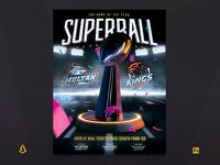 Football Super Bowl Flyer American Football Match Template