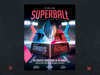 American Football Superbowl Flyer College Football Template