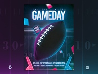 American Football Flyer College Super Bowl Watch Party Template