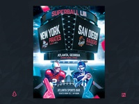 American Football Super Bowl Flyer College Match Template