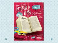 Read Across America Day Flyer Template School Reading Dr Seuss