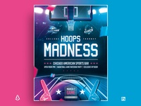 March Madness Basketball Flyer College Final Four Template