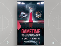 March Madness Flyer Basketball Final Four Template