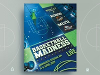 March Madness Flyer Final Four Basketball NCAA Template