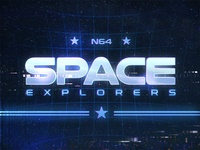 Space Explorers Retro Text Effects 80s New Wave