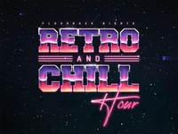 Retro And Chill Template 1980s New Wave Chrome Text Style