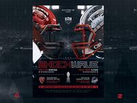 American Football Flyer v10 Super Bowl Match Template