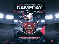 American Football NFL Super Bowl Flyer Template