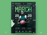 March Madness Basketball Flyer March Basketball Template