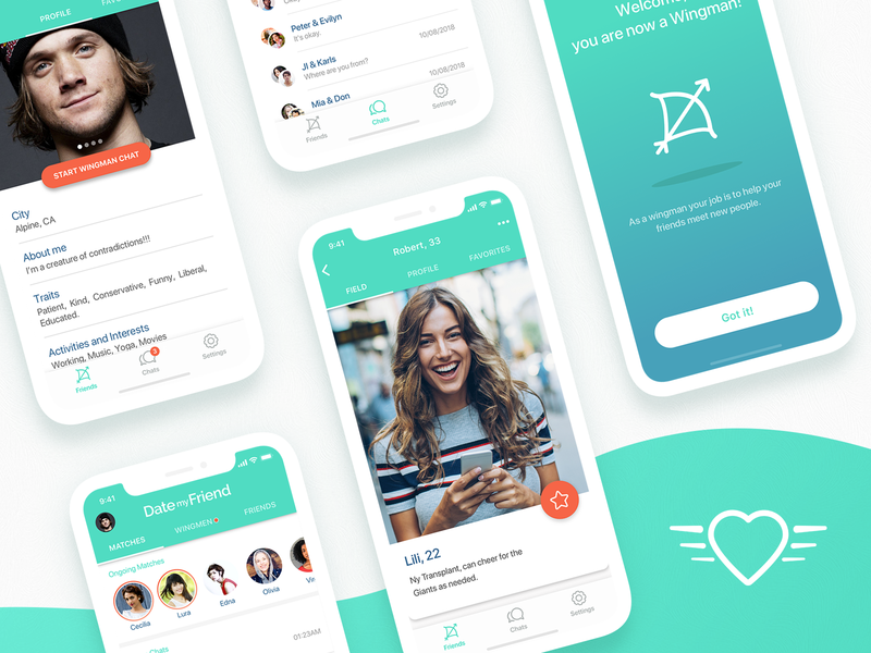 A different dating app ux branding product app ui design