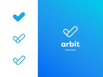 Arbit Logo simple design surveys app branding brand logo