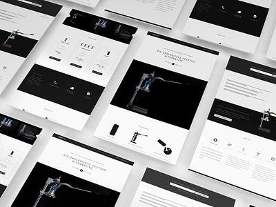 Product Website Industrial Design blueyetistudios ux minimal webdesigner technology industrial dark black clean landingpage branding webdesign