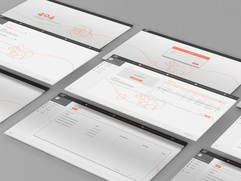 Material UI fintech industry keyvisuals squirrel fintech material processbar webapp clean minimal ui blueyetistudios web ux intuitive