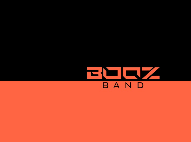 BOOZ - The Band illustration minimal design vector typography logo branding