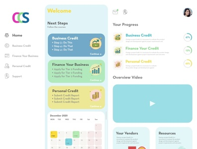 Customer Learning Portal UI design vector portal design portal web ui ux
