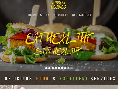 Food Desire Web UI
