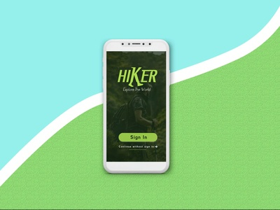 Hiker Mobile app ( Logo screen )