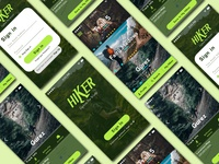 Hiker App UI (Hikers get ready to Roll)
