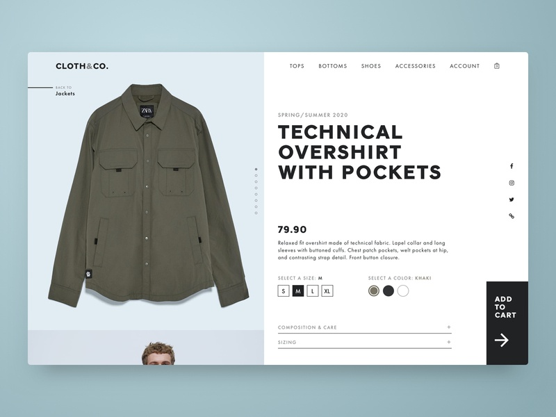 Daily UI 012 - Single Product E-commerce Page