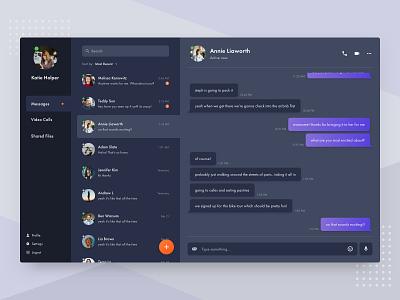 Daily UI 013 - Direct Messaging chat app messages messenger direct messaging daily ui web application web app mobile app app web ux ui design