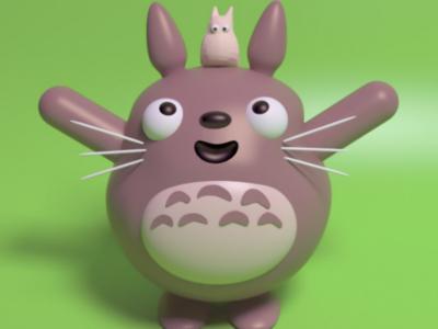 Totoro 💛 animation totoro cinema4d maxon 3d animated ghibliart