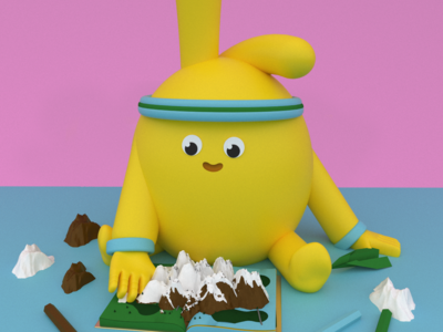 Otto art🎨🖍️✂️ character art maxonc4d illustration design animation c4d