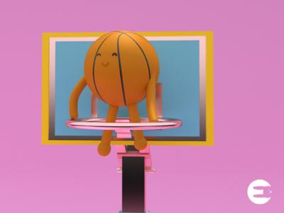 🏀😍 basketball ballons characterdesing maxon illustration logo web art character maxonc4d c4d design animation