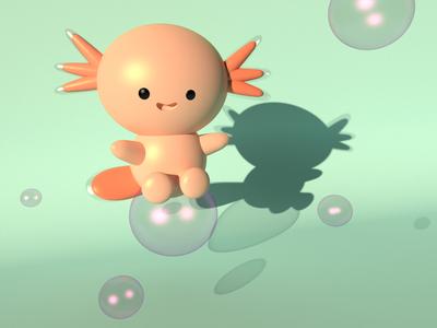 Ajolote design web maxon characterdesing character art maxonc4d illustration animation diseño c4d