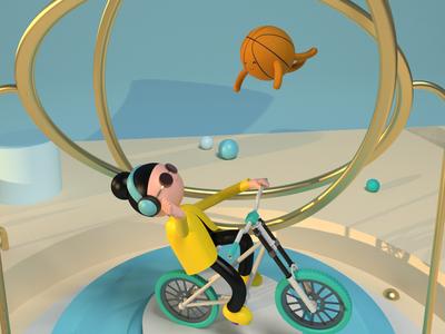 🙆🏻♀️🏀💞 ballons maxon diseño web characterdesing character art maxonc4d illustration design c4d animation