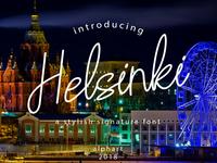 Helsinki a stylish signature font