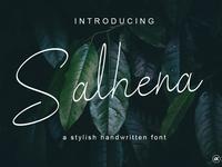 Salhena a stylish handwritten font