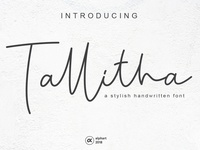 Tallitha - a stylish handwritten font