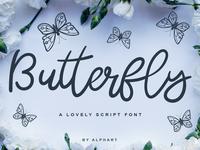Butterfly a lovely script font